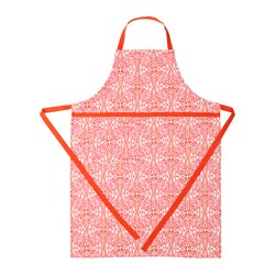 SOMMAR 2016 apron, white, red Length: 97 cm