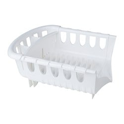 "FROSSARE dish drainer, white Min. length: 16 "" Max. length: 22 ½ "" Width: 13 "" Min. length: 40.5 cm Max. length: 57 cm Width: 33 cm"