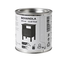 BEHANDLA glazing paint, black Volume: 375 ml