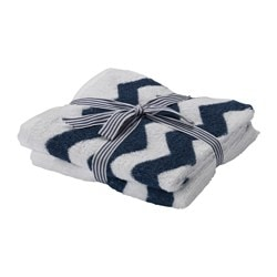 "SOMMAR 2016 guest towel, white/blue Length: 20 "" Width: 12 "" Surface density: 1.25 oz/sq ft Length: 50 cm Width: 30 cm Surface density: 380 g/m²"