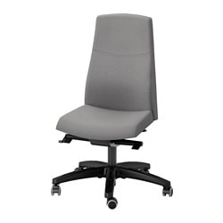 "VOLMAR swivel chair, Unnered Unnered gray Tested for: 242 lb 8 oz Width: 29 1/8 "" Depth: 29 1/8 "" Tested for: 110 kg Width: 74 cm Depth: 74 cm"