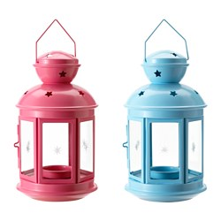 ROTERA lantern for tealight, in/outdoor assorted colours Height: 21 cm