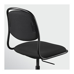 214 Rfj 196 Ll Sporren Swivel Chair Black Ikea