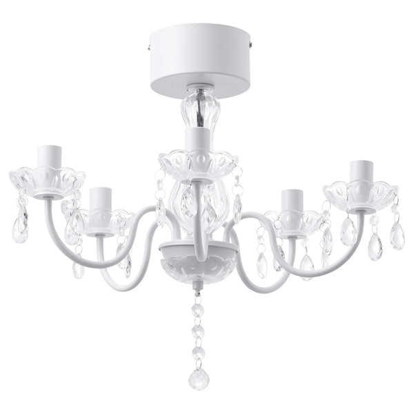 Chandelier 5 Armed Fyrtio White