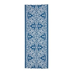 "SOMMAR 2016 rug, flatwoven, indoor/outdoor blue/white Length: 6 ' 7 "" Width: 2 ' 6 "" Area: 16.15 sq feet Length: 200 cm Width: 75 cm Area: 1.50 m²"