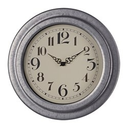 RYTTIS wall clock, galvanised Diameter: 23 cm