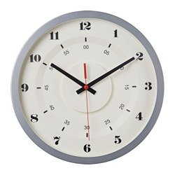 SKRILLA wall clock, metal silver-colour Diameter: 45 cm