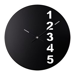 "FEJS wall clock, steel black Diameter: 11 ¾ "" Diameter: 30 cm"