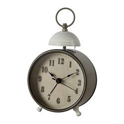 BRALLER alarm clock, brass-colour Diameter: 10 cm Height: 14 cm
