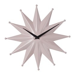 JUFFE wall clock, metal pink Diameter: 31 cm