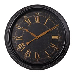 "KLYSA wall clock, metal black Diameter: 23 ¼ "" Diameter: 59 cm"