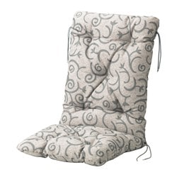STEGÖN seat/back cushion, outdoor, beige Length: 116 cm Width: 47 cm Back height: 68 cm