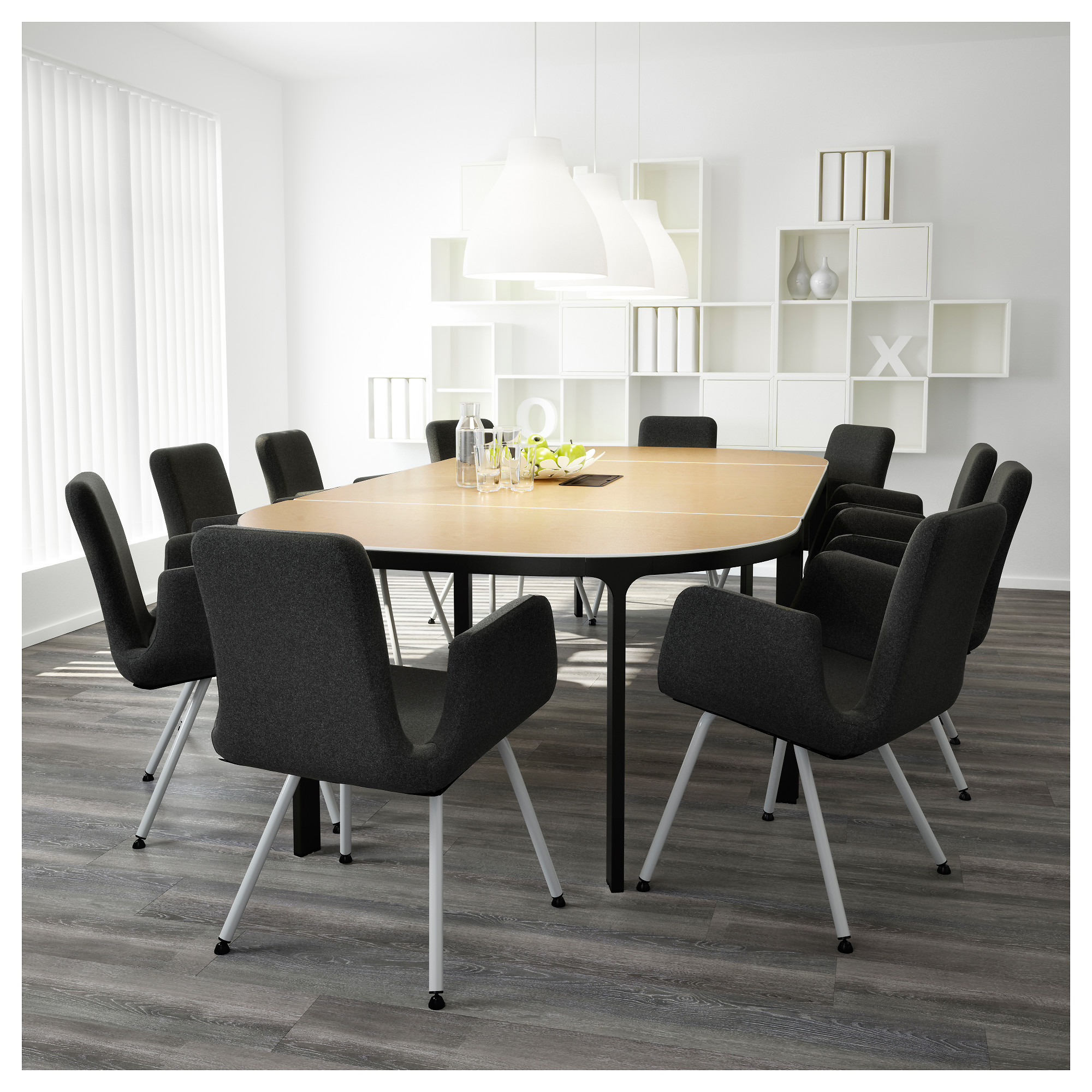 BEKANT Conference table birch veneer black IKEA