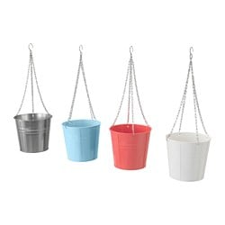 "SOCKER hanging planter, assorted colors, indoor/outdoor Height: 7 ½ "" Inside diameter: 7 ½ "" Height: 19 cm Inside diameter: 19 cm"
