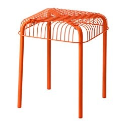 VÄSTERÖN stool, in/outdoor, orange Length: 36 cm Width: 36 cm Height: 44 cm