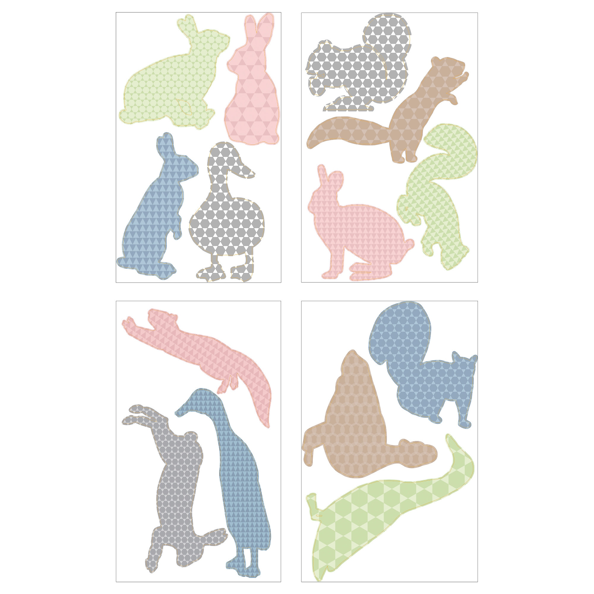Wall decals stickers ikea kltta decorative stickers scampering animals amipublicfo Image collections