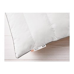 "HYLLE pillow, firmer Thread count: 236 square inches Length: 20 "" Width: 30 "" Thread count: 236 square inches Length: 51 cm Width: 76 cm"