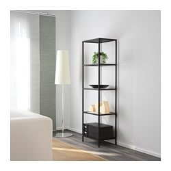 VittsjÖ Shelf Unit Black Brown Gl