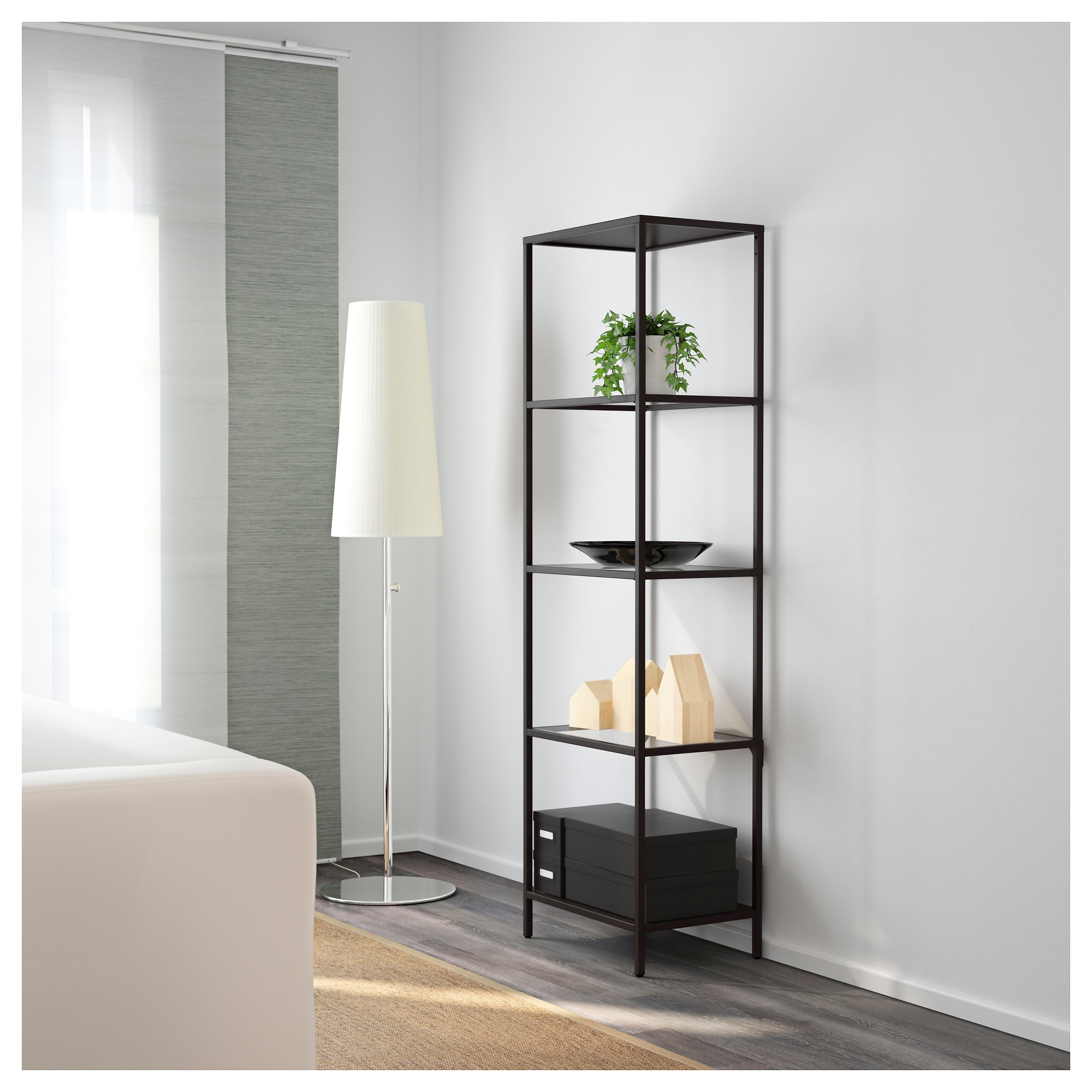 VITTSJÖ Shelf unit - white/glass - IKEA
