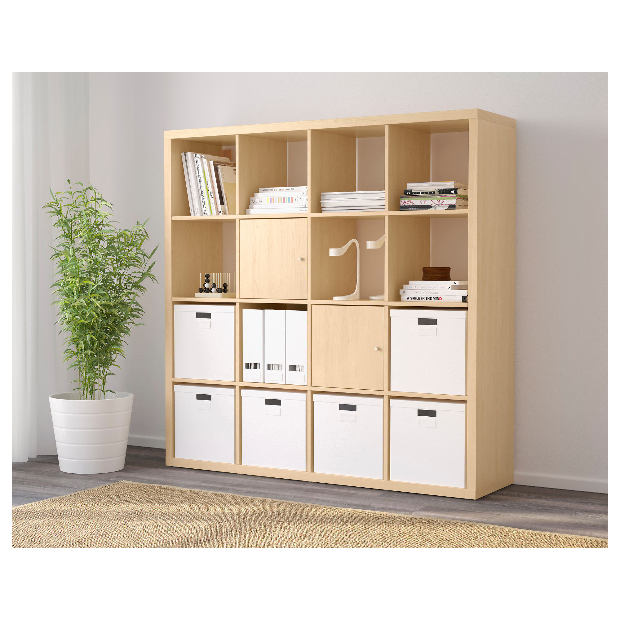 Ikea regal expedit birke  KALLAX Regal - weiß - IKEA