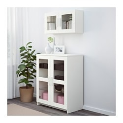 Merveilleux BRIMNES Cabinet With Doors, Glass, White $109.00