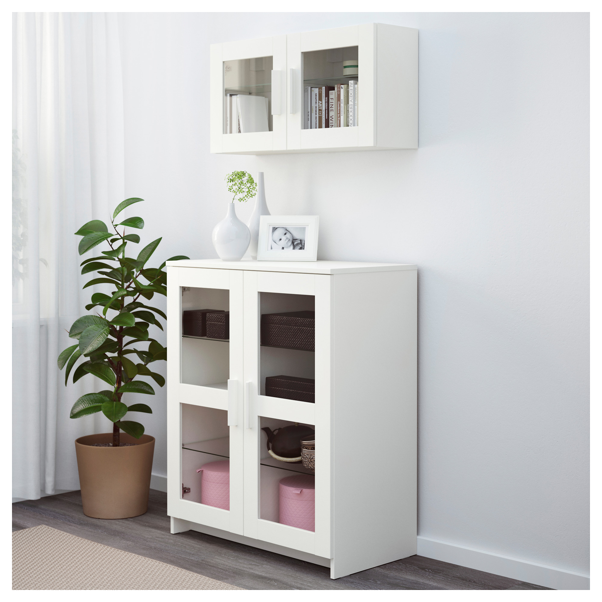 BRIMNES Cabinet With Doors   Glass/white   IKEA