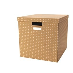TJENA box with lid, brown Width: 32 cm Depth: 35 cm Height: 32 cm