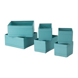 SKUBB box, set of 6, light blue