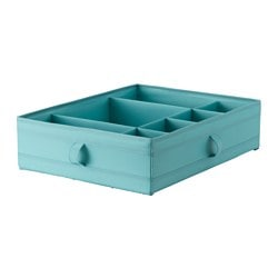 SKUBB box with compartments, light blue Width: 44 cm Depth: 34 cm Height: 11 cm