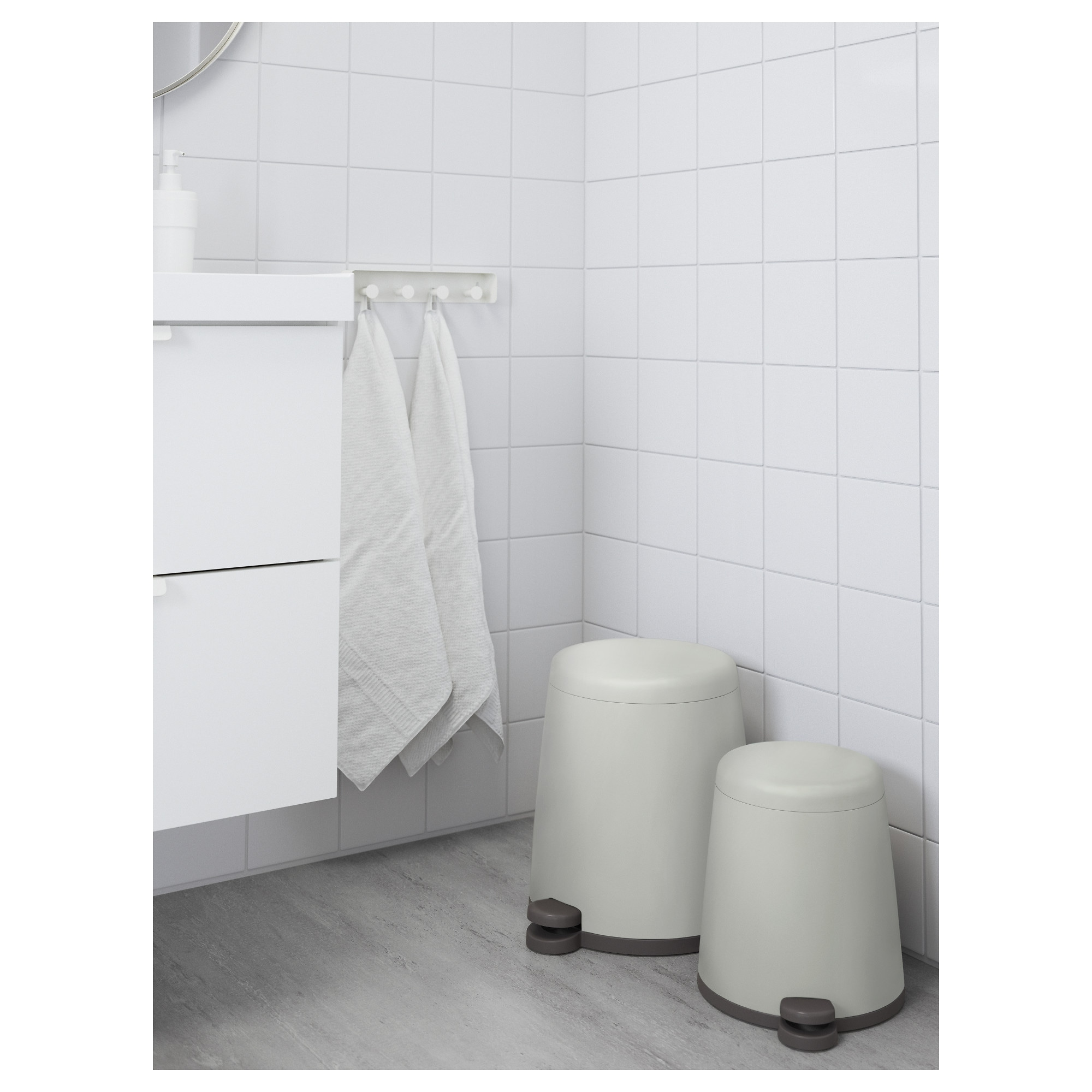White Bathroom Bin snÄpp pedal bin - white, 1 gallon - ikea