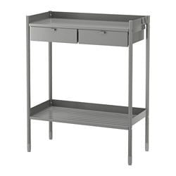 HINDÖ, Potting bench, gray