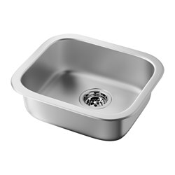 FYNDIG single-bowl inset sink, stainless steel Length: 45 cm Depth: 39 cm Height: 15 cm