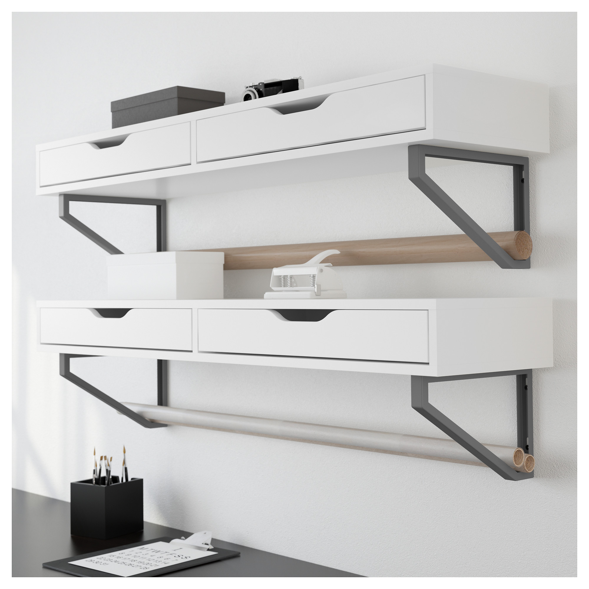ekby alex shelf with drawers - ikea