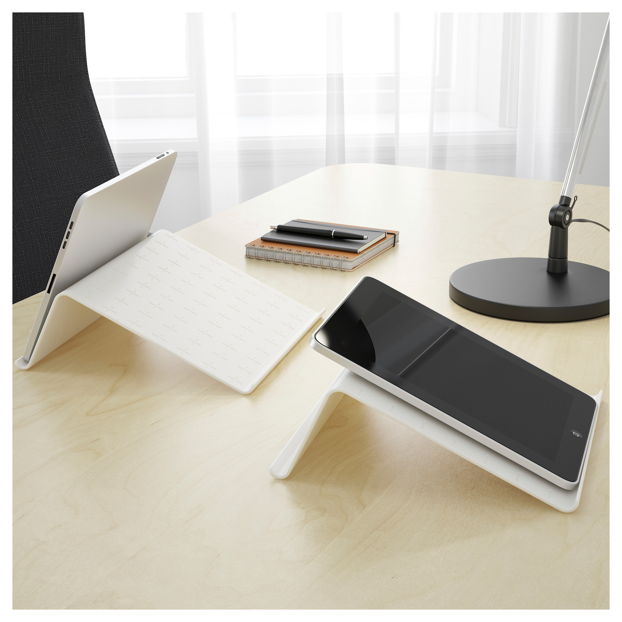 isber tablet stand white ikea
