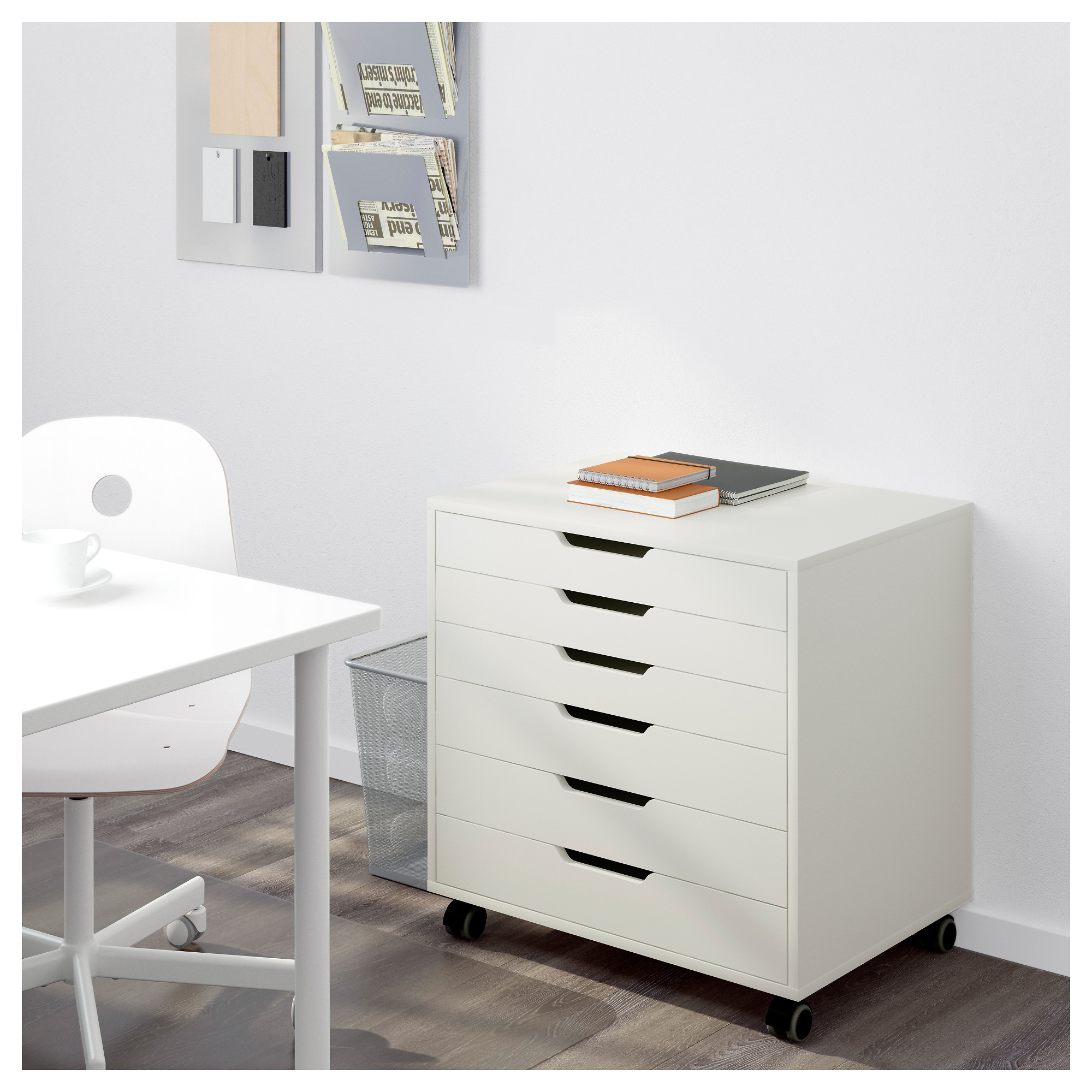 Beau ALEX Drawer Unit On Casters   White   IKEA