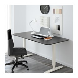 Bekant Desk Sit Stand Black Brown White 529 00
