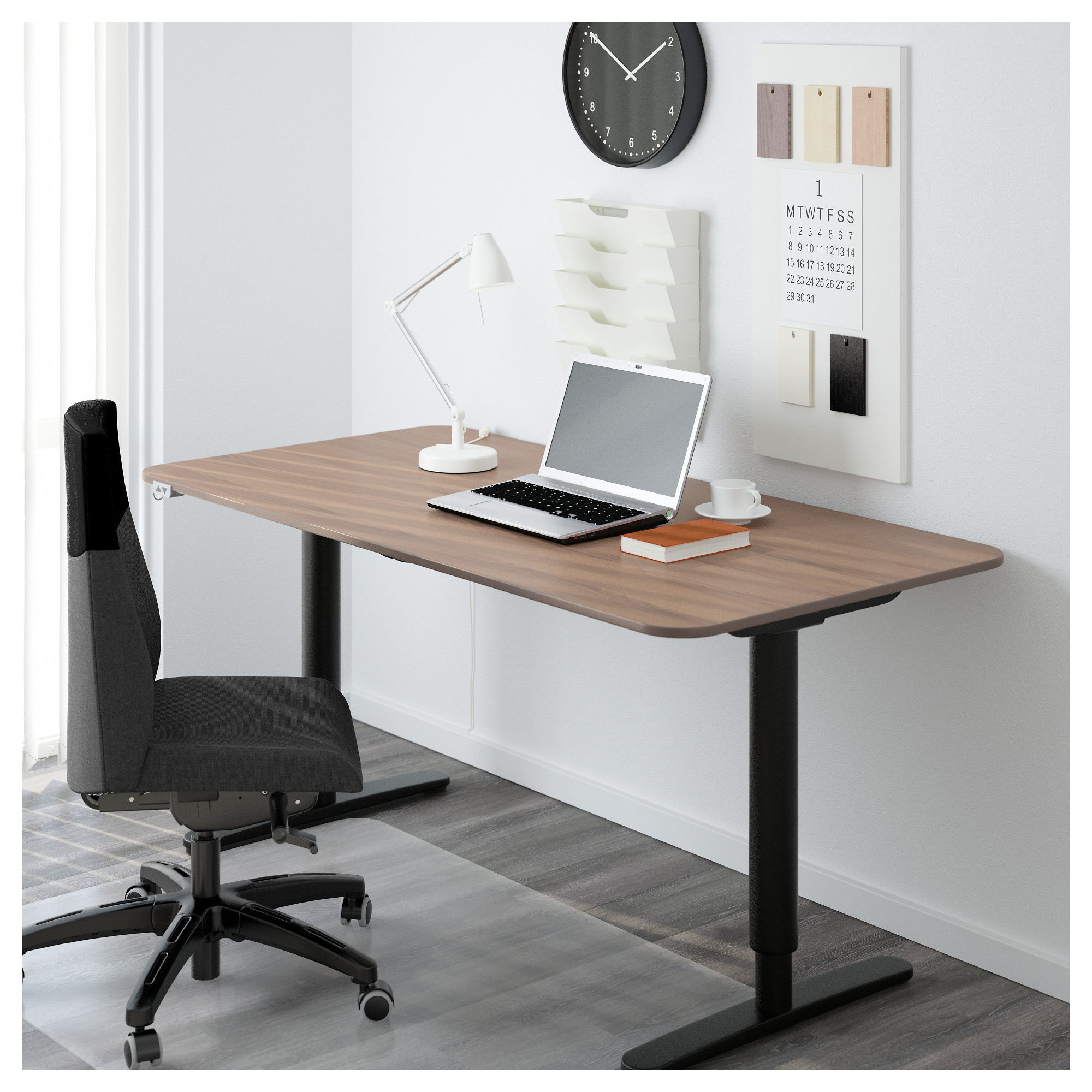 Marvelous BEKANT Desk Sit/stand   Black Brown/white   IKEA