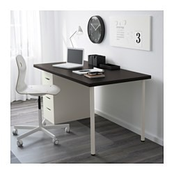 Linnmon Alex Table Black Brownwhite 59x29 12 Ikea