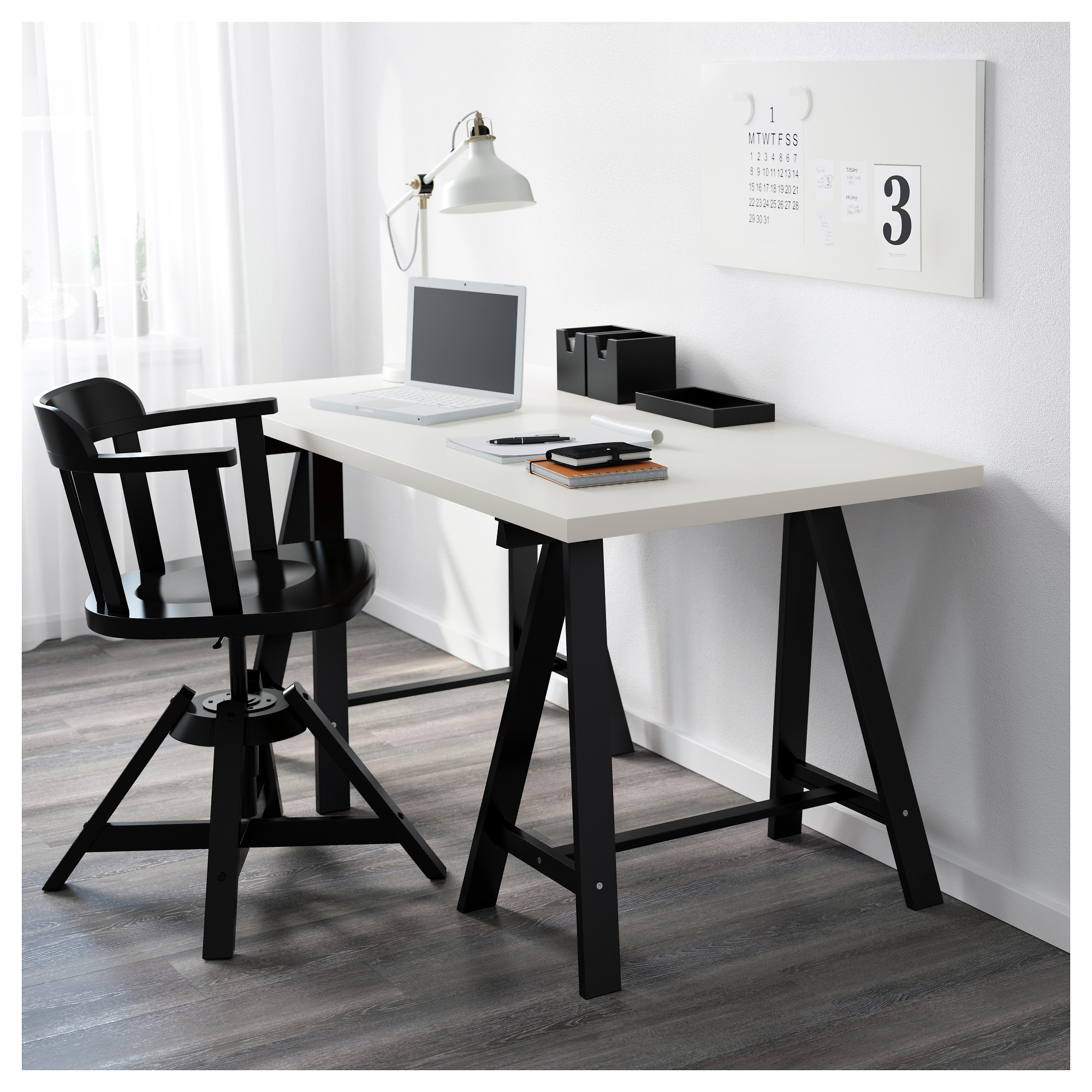 LINNMON / ODDVALD Table   White/black   IKEA
