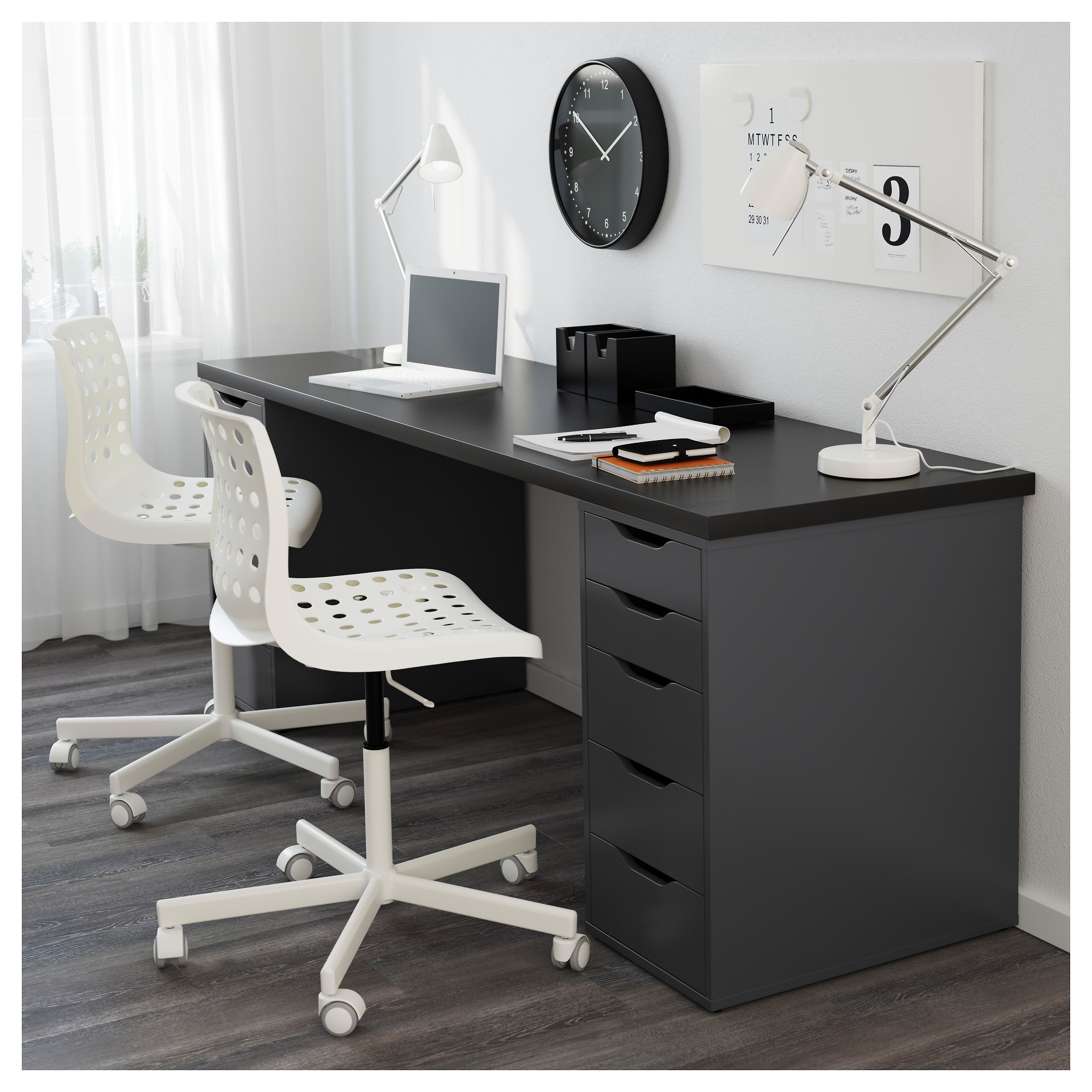 LINNMON / ALEX Table   Black Brown/white   IKEA