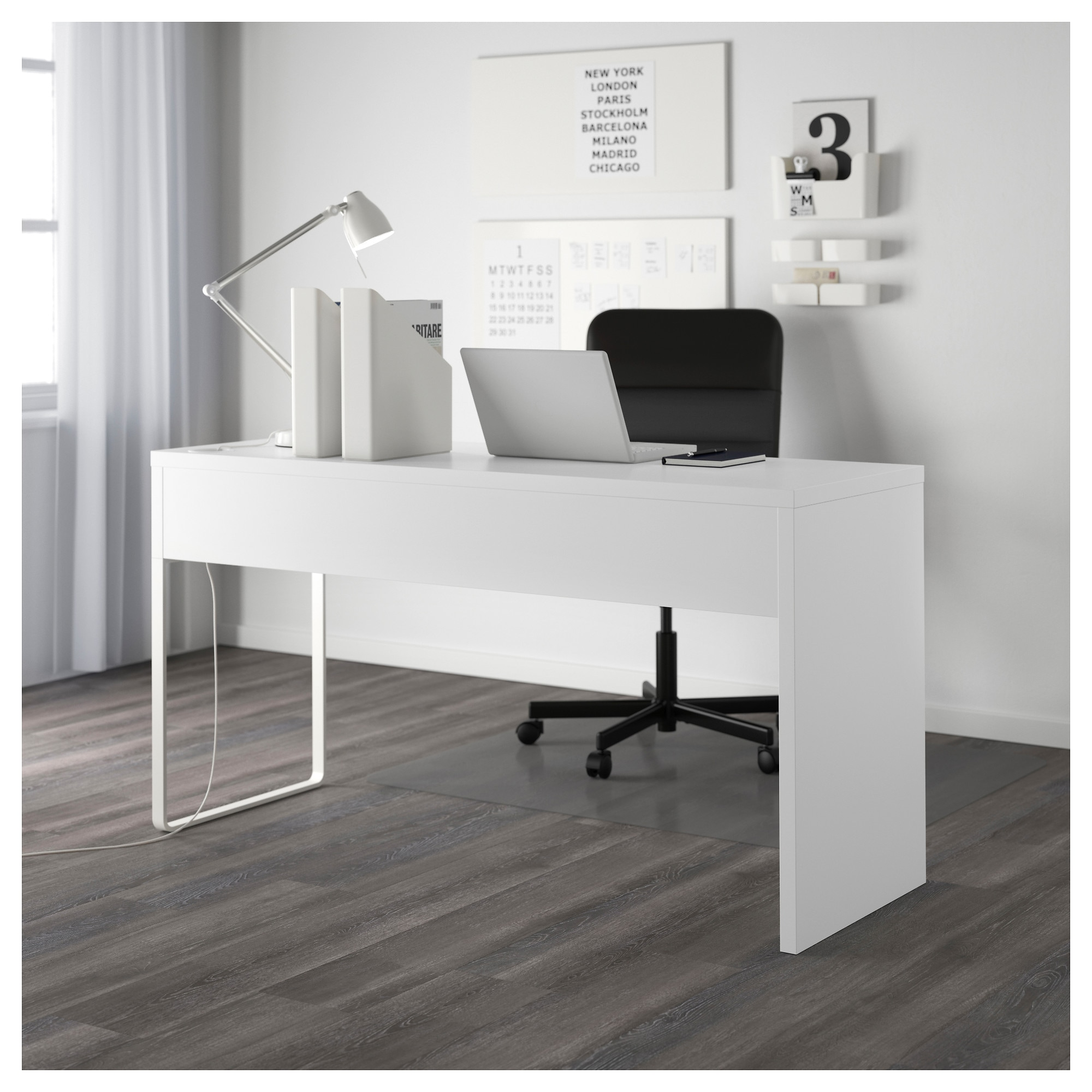 micke desk  white  ikea -