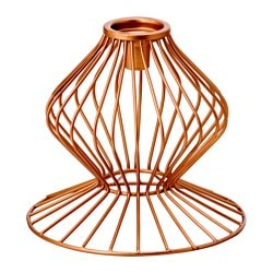 FÖRETE candlestick/tealight holder, copper-colour Height: 16 cm