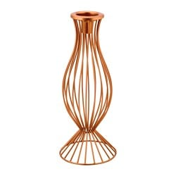 FÖRETE candlestick/tealight holder, copper-colour Height: 28 cm