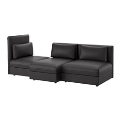 VALLENTUNA 3-seat sofa, Murum black
