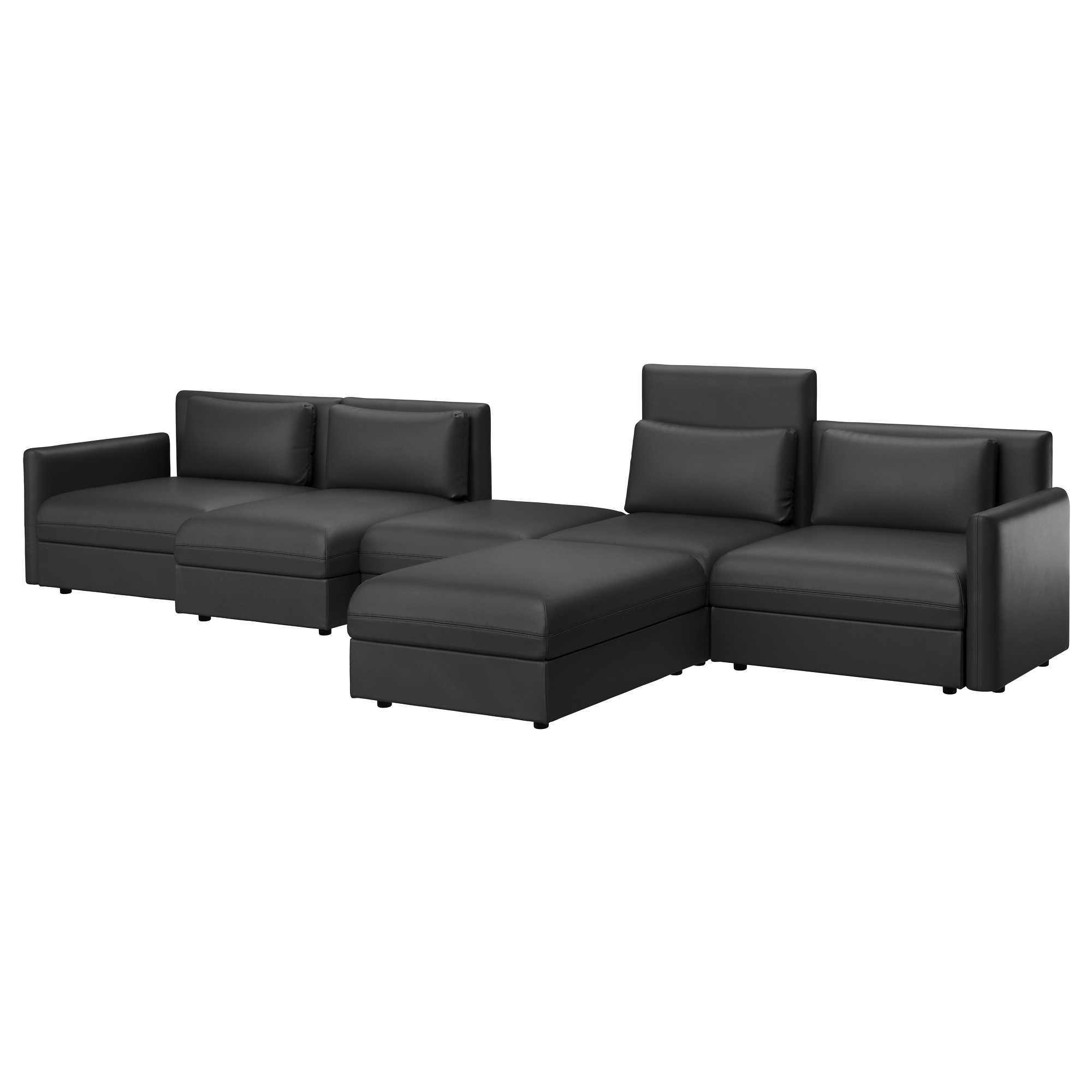 Chaise sofa - Vallentuna Sectional 5 Seat Hillared Dark Gray Width 183 1 2