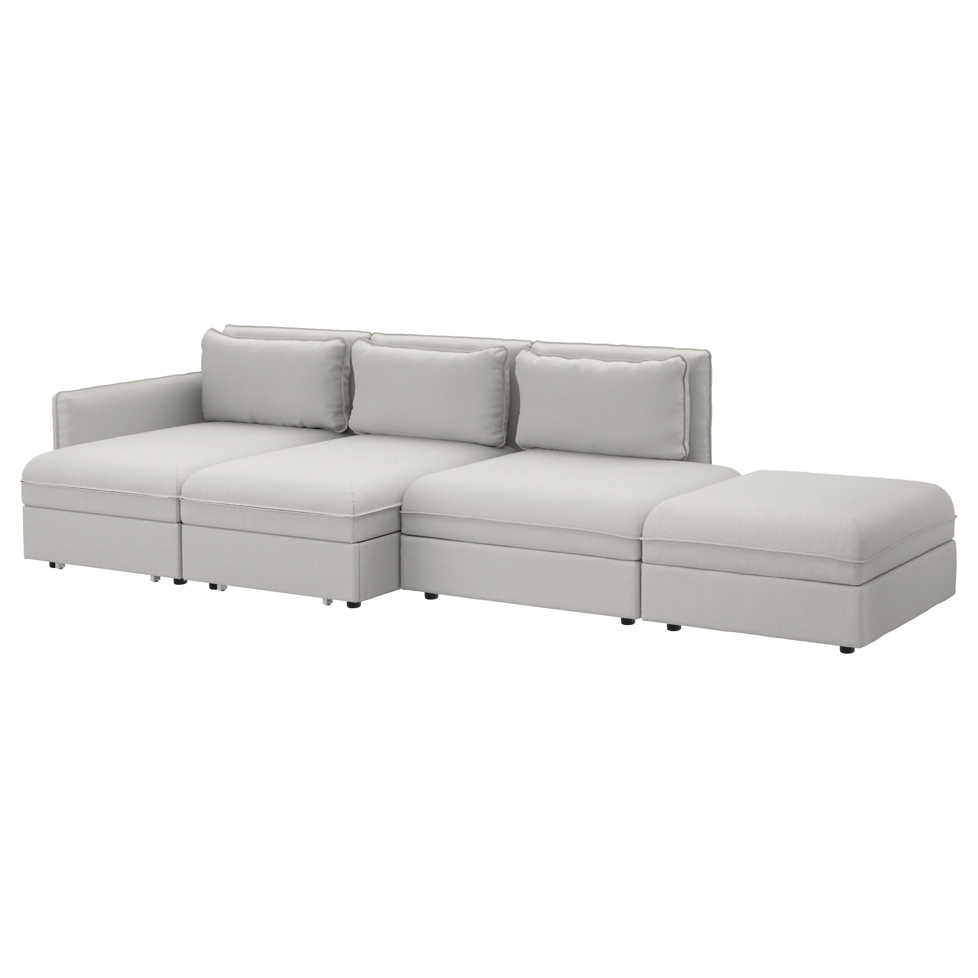 VALLENTUNA 4 seat sofa with bed Orrsta light grey IKEA