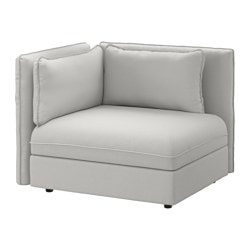 VALLENTUNA sectional, 1-seat, Orrsta light gray