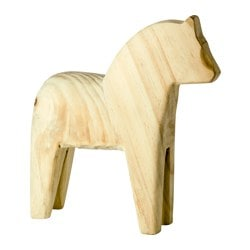 FINANSIELL decoration, horse, pine Length: 25 cm Height: 26 cm