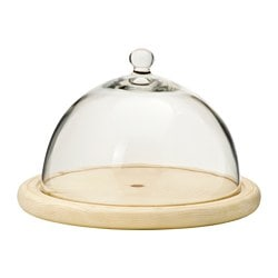 "KLAMBY cheese dome, pine, clear glass Diameter: 8 5/8 "" Height: 5 7/8 "" Diameter: 22 cm Height: 15 cm"