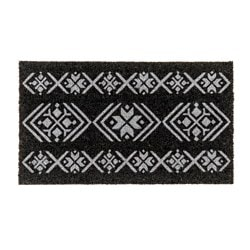 ISGATA door mat, grey dark grey Length: 70 cm Width: 40 cm Pile thickness: 15 mm